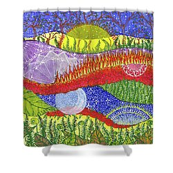 Shower Curtain featuring the painting I Will Have You And You Will Have Me #2 by Kym Nicolas