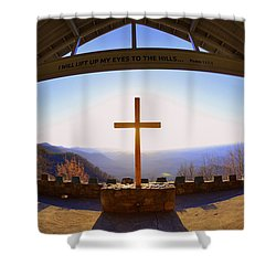 I Will Lift My Eyes To The Hills Psalm 121 1 Shower Curtain