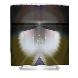 I Wish I Was A Headlight On A Northbound Train Shower Curtain by David Klaboe