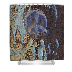 I Wish You Peace - Graffiti Shower Curtain