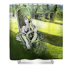 I Wish You Were Here Shower Curtain by Miki De Goodaboom