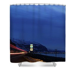 Shower Curtain featuring the photograph I84 by Cat Connor