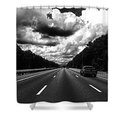 I95 Clouds Shower Curtain