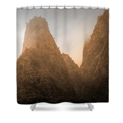 Iao Needle In Sepia Shower Curtain