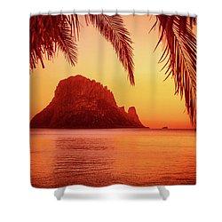 Ibiza Sunset Shower Curtain by Iryna Goodall