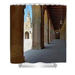 Ibn Tulun Great Mosque Shower Curtain by Nigel Fletcher-Jones