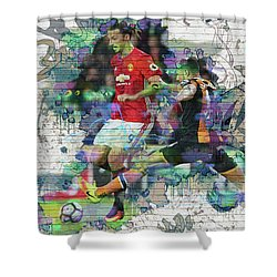 Ibrahimovic Street Art Shower Curtain
