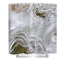Shower Curtain featuring the photograph Ice Abstract by Christina Rollo