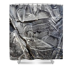 Ice Abstract Shower Curtain by Lynda Lehmann