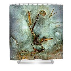Ice Abstract Shower Curtain