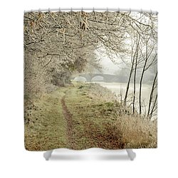 Ice And Mist Shower Curtain