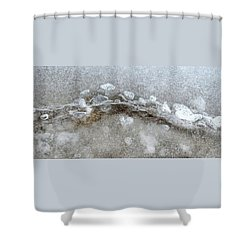 Ice And The Beach Four  Shower Curtain by Lyle Crump