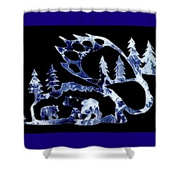 Shower Curtain featuring the photograph Ice Bears 1 by Larry Campbell