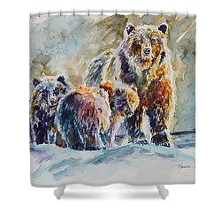 Ice Bears Shower Curtain by P Maure Bausch