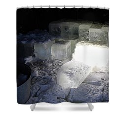 Ice Blocks In House Shower Curtain