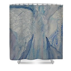 Ice Blue Angel Shower Curtain by Jeanne MCBRAYER