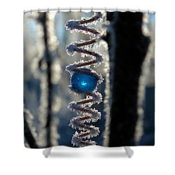 Shower Curtain featuring the photograph Ice-blue by Silke Brubaker
