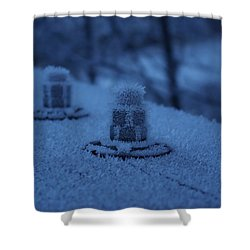 Ice Bolts Shower Curtain