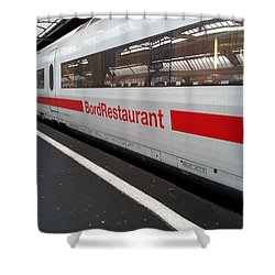 Ice Bord Restaurant At Zurich Mainstation Shower Curtain
