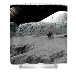 Ice Cliffs Of Europa Shower Curtain