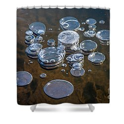 Ice Coins On The Water Shower Curtain
