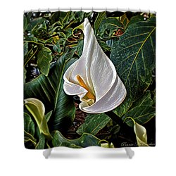 Shower Curtain featuring the digital art Ice Cream Calla Lily by Pennie  McCracken