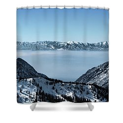Shower Curtain featuring the photograph Ice Cream Castles by Jim Hill