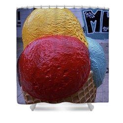 Ice Cream Cone Shower Curtain