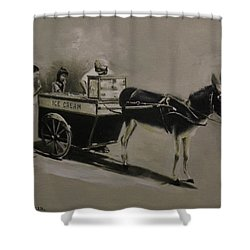 Ice Cream Man. Shower Curtain