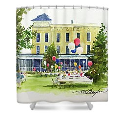 Ice Cream Social And Strawberry Festival, Lakeside, Oh Shower Curtain