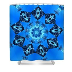 Ice Cristals Shower Curtain