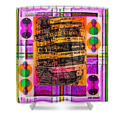 Ice Cube Stack Shower Curtain by Tony Adamo