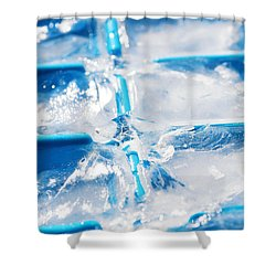 Ice Cubes Shower Curtain by Carlos Caetano