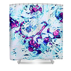 Shower Curtain featuring the painting Ice Dance by Anastasiya Malakhova