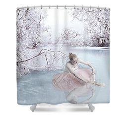 Ice Dancer Shower Curtain