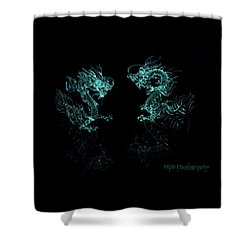 Ice Dragons Shower Curtain by Chad Hamilton