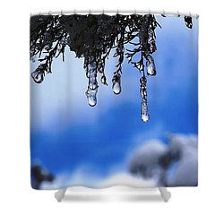 Ice Drops Shower Curtain