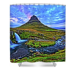 Shower Curtain featuring the photograph Ice Falls by Scott Mahon