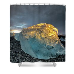 Shower Curtain featuring the photograph Ice Fish by Allen Biedrzycki