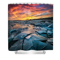 Ice Floe Shower Curtain