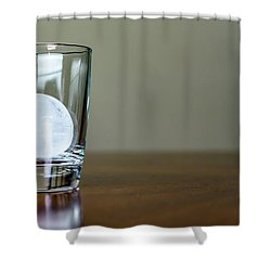 Ice For Whisky Or Cocktail Shower Curtain