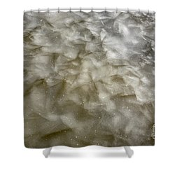 Ice Formations During The Winter Months Shower Curtain by Erin Paul Donovan