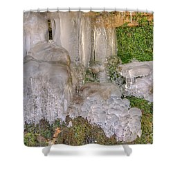 Ice Formations Shower Curtain