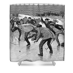Ice Hockey, 1898 Shower Curtain by Granger