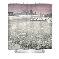 Frozen Allegheny River  Shower Curtain