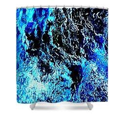 Shower Curtain featuring the digital art Ice  by Jennah Lenae