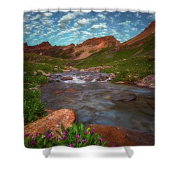Shower Curtain featuring the photograph Ice Lake Nights by Darren White