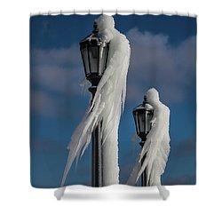 Ice Lamp Ladies Shower Curtain