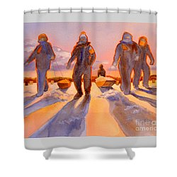 Ice Men Come Home Shower Curtain