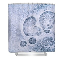 Shower Curtain featuring the photograph Ice Pattern Three by Davorin Mance